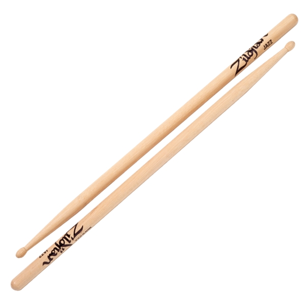 Zildjian Hickory Jazz Natural Wood Tip