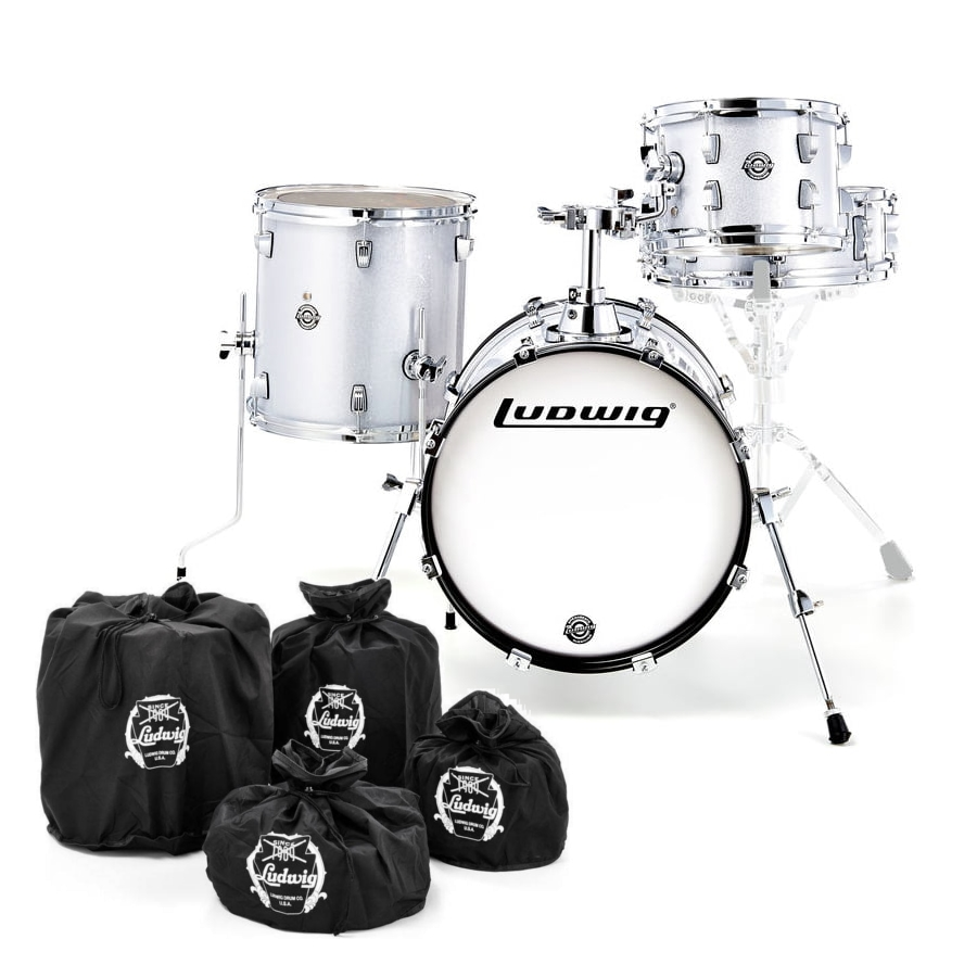 Ludwig BreakBeats Black White Sparkle SHELL SET